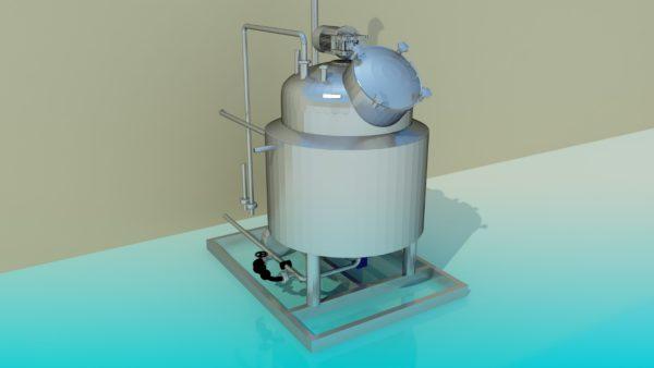 Вакуумно-варочный бак для приготовления сахарного сиропа
