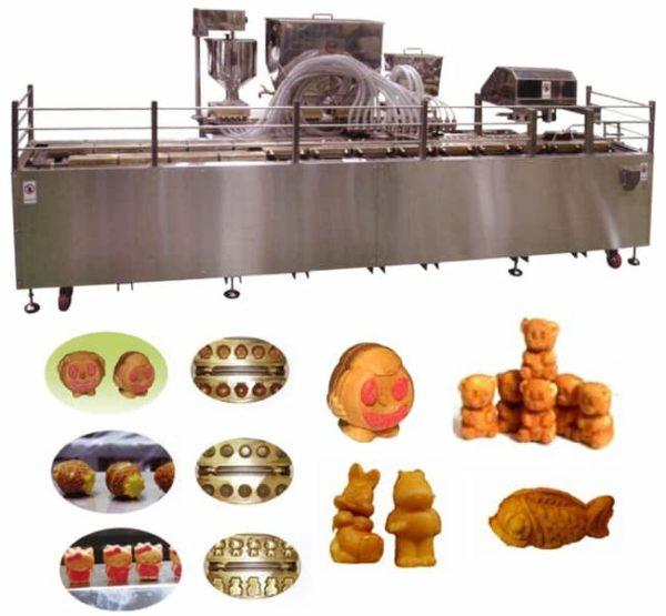 20210528 Автоматическая машина для производства сдобного бисквитного печенья заданной формы с начинкой
